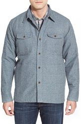 Quiksilver Waterman Collection 'Ridgewood' Regular Fit Long Sleeve Quilted Shirt Jacket Dark Slate