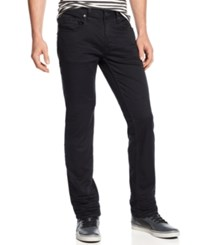 Buffalo David Bitton Slim Straight Fit Six Torpedo Stretch Twill Jeans Black