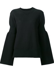 Sacai Side Zip Sweatshirt Black
