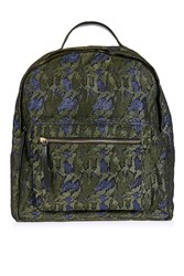 Topshop Bino Camo Backpack Blue