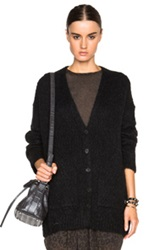 Raquel Allegra Boyfriend Cardigan In Black