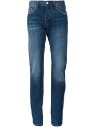 Levi's High Waisted Straight Jeans Blue
