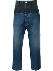 Vivienne Westwood Anglomania 'Samurai' Cropped Jeans Grey