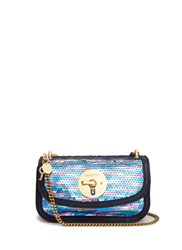 See By Chloe 'Lois' Metallic Sequin Chain Bag Metallic Multi Colour