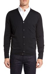 John Smedley Men's 'Bryn' Easy Fit Wool Button Cardigan Black