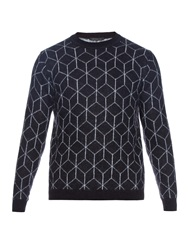 Christopher Kane 3D Cube Mohair Blend Knit Sweater