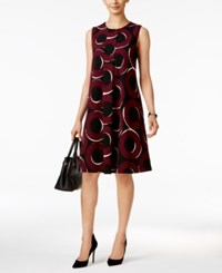 Alfani Printed Pleated Swing Dress Only At Macy's Chic Circles