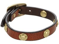 Frye Stud Wrap Cuff Whiskey Soft Vintage Leather Bracelet Tan