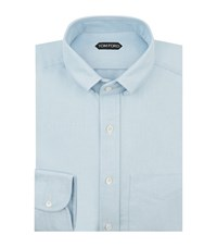 Tom Ford Cotton Oxford Shirt Male Blue