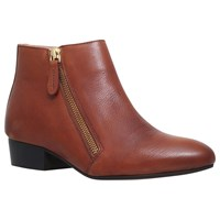 Kg By Kurt Geiger Sally Flat Ankle Boots Tan