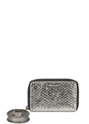 Elizabeth And James Pyramid Silver Leather Wristlet Wallet
