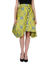 Vivienne Westwood Anglomania Knee Length Skirts Acid Green