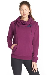 Nike 'Rally' Funnel Neck Hoodie Mulberry Mulberry