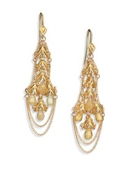 Anthony Camargo Yellow Beryl And 14K Yellow Gold Kite Chandelier Earrings