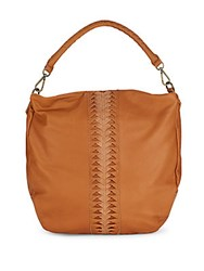 Liebeskind Leather Zipped Handbag Cognac