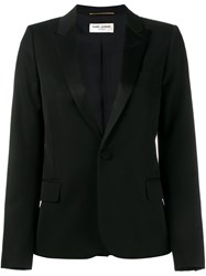 Saint Laurent One Button Blazer Black