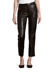 Iro Leather Cropped Pants Black