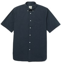 Rag And Bone Button Down Collar Cotton Shirt Navy