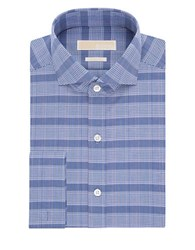 Michael Michael Kors Tonal Plaid Dress Shirt Dark Blue