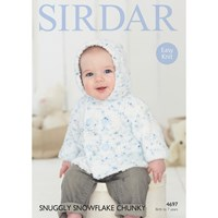Sirdar Snuggly Snowflake Chunky Baby Cardigan Knitting Paper Pattern 4697