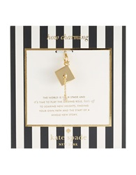 Kate Spade How Charming Graduation Hat Charm Gold