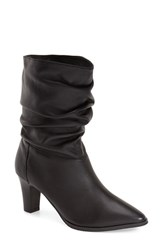 Women's Adrianna Papell 'Noelle' Ruched Mid Boot Black Mestizo Leather