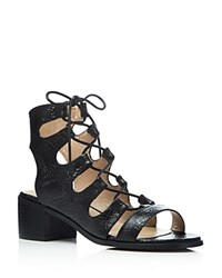 Catherine Malandrino Adelaide Lace Up Sandals Compare At 74 Black