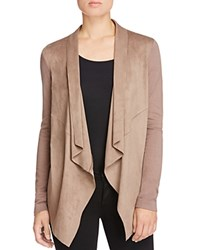 Bagatelle Draped Faux Suede Jacket Mocha