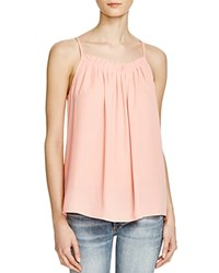 Aqua Solid Gathered Neck Tank Soft Coral