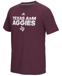 Adidas Men's Texas A And M Aggies Sideline Hustle T Shirt Maroon