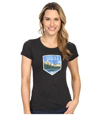 Columbia National Parks Tee Grey Heather Rocky Mountain Women's T Shirt Black