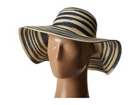 Michael Stars Swirl Striped Floppy Hat Nocturnal Caps Black