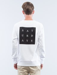 Saturdays Surf Nyc Bowery Grid Sweatshirt