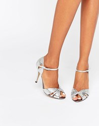 True Decadence Silver Heeled Sandals Silver