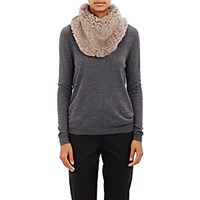 Barneys New York Women's Knitted Fur Cowl Scarf Grey