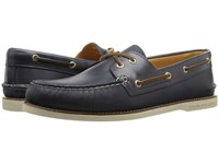 Sperry Gold A O 2 Eye Seasonal Navy Men's Moccasin Shoes