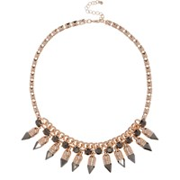 River Island Womens Rose Gold Tone Spike Necklace