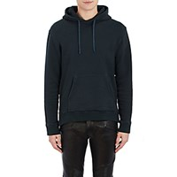Balmain Men's Side Zip Hoodie Dark Green