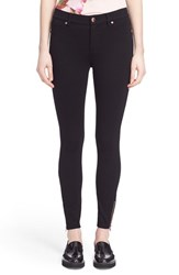 Ted Baker Women's London 'Fioni' Ankle Zip Stretch Knit Skinny Pants Black