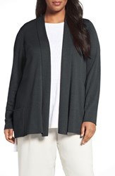 Eileen Fisher Plus Size Women's Tencel Lyocell Blend Shawl Collar Cardigan