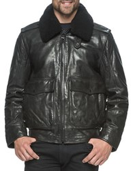 Andrew Marc New York Anchorage Leather Jacket Black