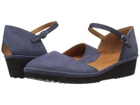 Gentle Souls Nora Navy Nubuck Women's Dress Flat Shoes Blue