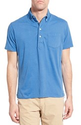 Men's Relwen 'Lake Superior' Pima Cotton Polo Bright Blue