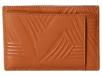 Marni Flower Embossed Leather Card Holder Tan Wallet Handbags