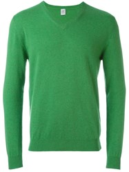 Eleventy V Neck Sweater Green