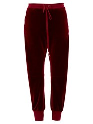 Chloe Drawstring Elasticated Cuff Trousers Burgundy