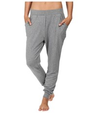 Midnight By Carole Hochman Lounge French Terry Pants Heather Women's Pajama Gray