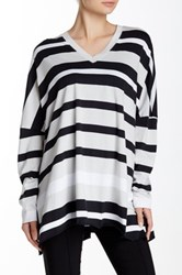 Planet Striped Ez V Neck Tee Multi