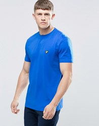 Lyle And Scott T Shirt With Eagle Logo In Blue Lake Blue
