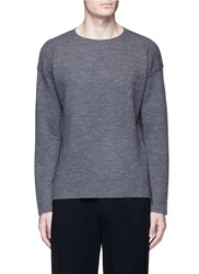 Tomorrowland Double Faced Wool Sweater Grey